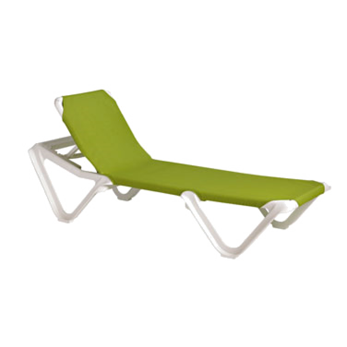 Buy Grosfillex W Nautical Chaise stackable without arms adjustable sling white frame