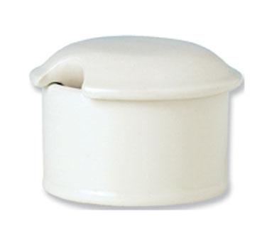 Mustard Pot Lid, vitrified china, Performance, Ivory, Claret (UK stock item) (mi