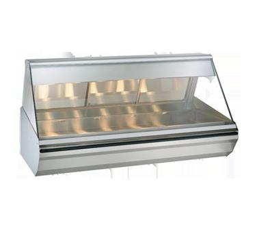 "Halo Heat® Heated Display Case, countertop, 72"" L, full-service, lift-up flat gl"