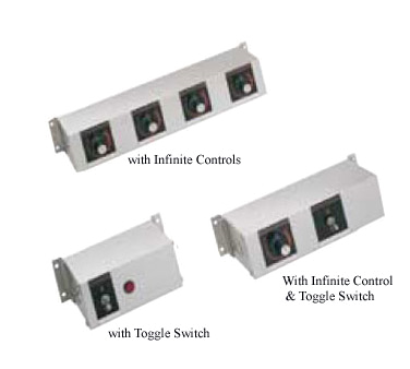 Remote Control Enclosure, 4 toggle switches & (4) indicator lights (for 120 volt