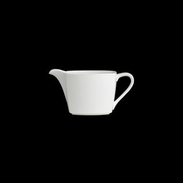 "Creamer, 8.1 oz., 6-1/4"" x 2-7/8"" x 3""H, handled, bone china, Narumi Aria (USA s"