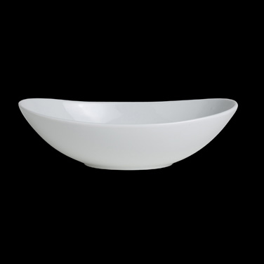 "Bowl, 30 oz., 9-7/8"" x 6-1/4"", oval, Varick, Café Porcelain (USA stock item) (mi"