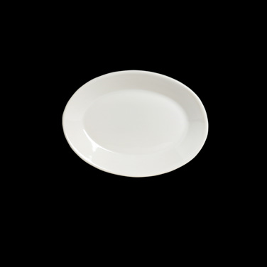 "Platter, 9"" x 7"", oval, rolled edge, Anfora, American Basics (USA stock item) (m"