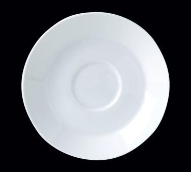 "Saucer, 6"" dia., round, single well, Distinction, Monaco White (Canada stock ite"