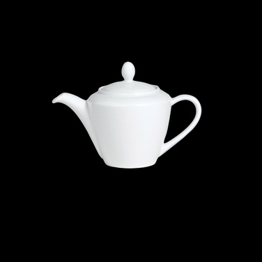 Madison Teapot, 21 oz., Lid 2, vitrified ceramic, Performance, Simplicity, White