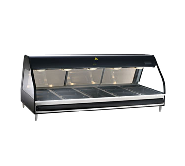 """Halo Heat® Heated Display Case, countertop 72"""" L, full-service, curved glass fro"""