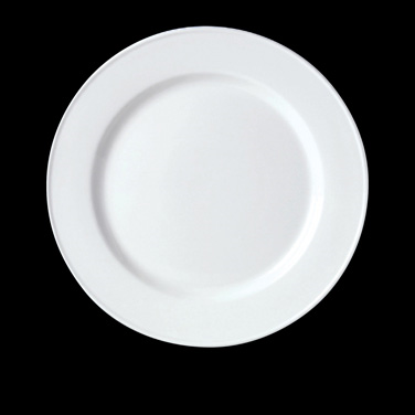 "Slimline Plate, 10-5/8"" dia., round, vitrified china, Performance, Blue Dapple ("