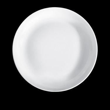 "Plate, 7-3/4"" dia., round, 212519BL, porcelain, Pillivuyt, Louna/Cecil (priced p"