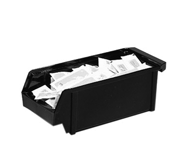 "Organizer Bin, 5"" x 12"" x 4-1/4"", polyethylene, black"