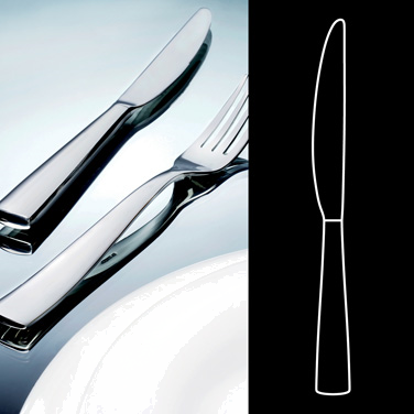 "Dessert Knife, 8-1/2"", hollow handle, stainless steel, La Tavola, Lounge (non-st"