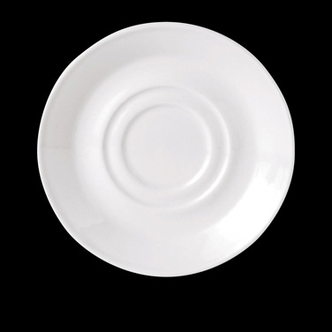 """Slimline Soup Stand/Saucer, 6-1/2"""" dia., round, double well, vitrified china, Pe"""