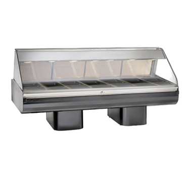 "Halo Heat® Hot Deli Display System, full-service, 96"" display case mounted on pe"