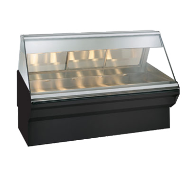 "Halo Heat® Heated Display Case System, 72"" L, self-service, half flat glass fron"