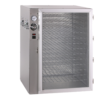 Halo Heat® Pizza Holding Cabinet, with glass door, stainless steel exterior, on/