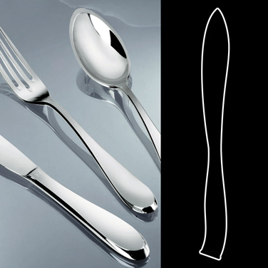 "Steak Knife, 9-3/4"", hollow handle, stainless steel, La Tavola, Premiere (USA st"