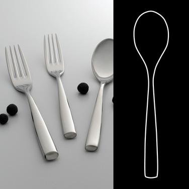 "US Tea Spoon, 6"", 18/10 stainless steel, WNK, Zen (USA stock item) (minimum = ca"