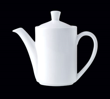 Coffee Pot, 21 oz., Lid 3, Distinction, Vogue, Vogue White (priced per case, pac