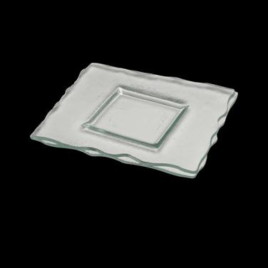 "Plate, 11"" x 9-1/2"", rectangular, glass, Catherine Hurand Zeus (priced per case,"