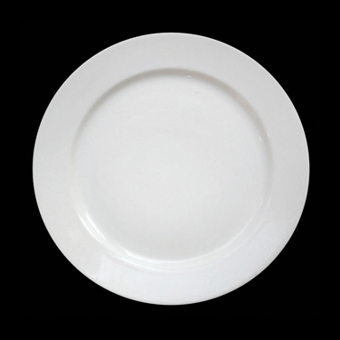 "Allure Plate 6-1/2"" dia. (3-3/4"" well), round, bone china, Tria (minimum = case"