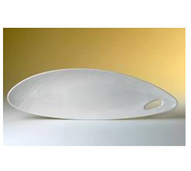 "Platter, 20-1/4"" dia., oval, Distinction, Organic, Organics White (priced per ca"