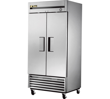 Freezer, Reach-in, -10° F, two-section, stainless steel doors, stainless steel f