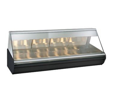 "Halo Heat® Heated Display Case, countertop, 96"" L, full-service, lift-up flat gl"