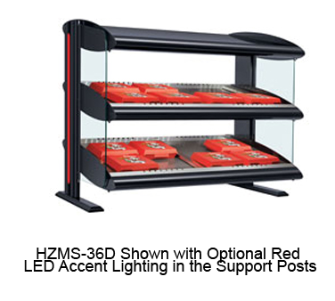 Spot On Horizontal Heated Zone Merchandising Warmer, free-standing, dual shelf,