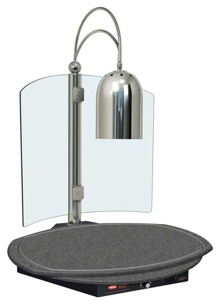 Decorative Carving Station with Single Heat Lamp (clear bulb included), telescop