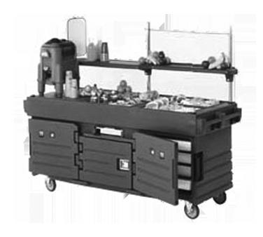 "CamKiosk® Cart, with 4 pan wells, 85-1/8"" x 33-1/2"" x 70-1/2"", polyethylene cons"