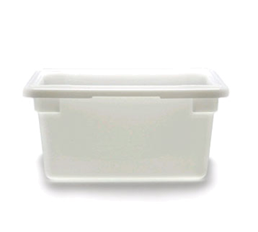 """Food Storage Container, 12"""" x 18"""" x 9"""", 4.75 gallon capacity, natural white, pol"""