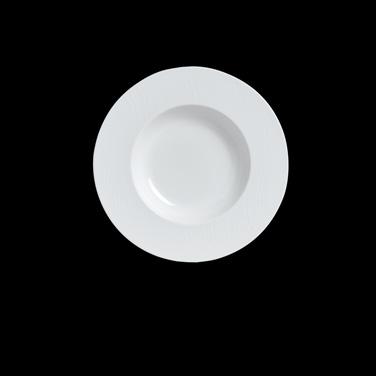 "Soup Bowl, 5-3/4 oz., 9"" dia., round, rimmed, bone china, Narumi Aria (USA stock"