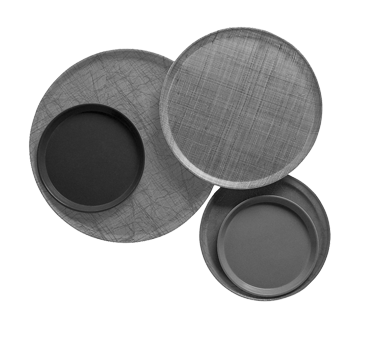 "Serving Camtray®, round, 11"" diameter, fiberglass, dishwasher safe, sky blue, NS"