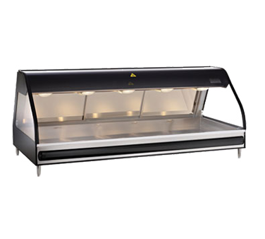 "Halo Heat® Heated Display Case with European Style Base, 72"" L, full-service, cu"