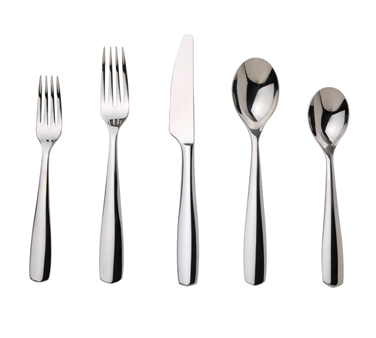 "Place Set, 5-piece, includes one of each, 7-3/8"" dessert fork, 8-1/2"" table fork"