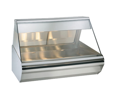 "Halo Heat® Heated Display Case, countertop, 48"" L, self-service, half flat glass"
