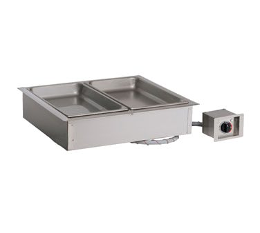 """Halo Heat® Hot Food Well Unit, Drop-In, Electric, (2) 12"""" x 20"""" full-size pan ca"""