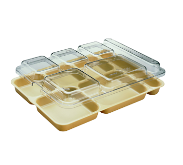 "Tray Lid, fits 6-compartment Camwear® Separator® tray, 10"" x 14-5/32"" x 1-5/32"","