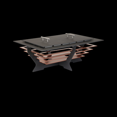 "Chafing Dish, 28"", rectangular, black with copper steps, Brand Designs, Canyons"