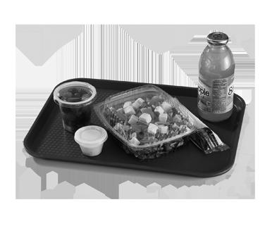 "Fast Food Tray, polypropylene, 10-7/16"" x 13-9/16"", rigid bottom, textured surfa"