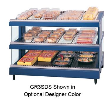 Glo-Ray® Designer Slant Display Warmer, (15) rods, free-standing, dual shelf, ad