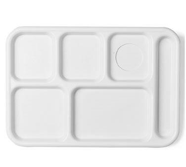 "Camwear® School Tray, 6-compartment, 10"" x 14-1/2"", full portion, textured surfa"
