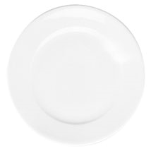 "Plate, 10-1/2"" dia., round, porcelain, Pillivuyt, Paris (priced per case, packed"