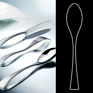 "Tea Spoon, 5-1/2"", stainless steel, La Tavola, New Wave (USA stock item) (minimu"