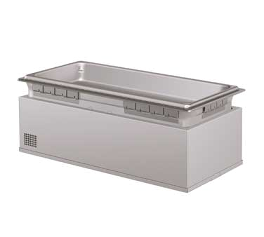 Built-In Heated Well, with drain, rectangular, insulated, (4) 1/3 size pan cap.,