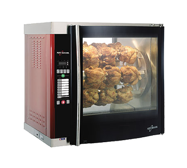 Rotisserie Oven, countertop, electric, (7) removable stainless steel angled spit