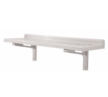 "Camshelving® Wall Shelf, slotted, 14"" x 48"", polypropylene, 2"" molded backsplash"