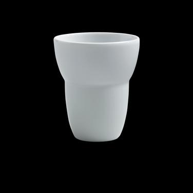 """Tumbler, 2-1/2 oz., 2-3/8"""" dia., round, porcelain, Duo, Rene Ozorio (USA stock i"""