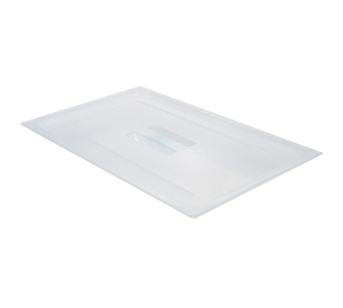 Food Pan Cover, full size, with handle, translucent polypropylene, NSF