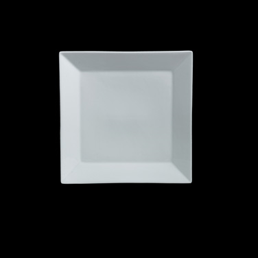 "Tray, 10-1/2"" x 10-1/2"", square, rimmed, Varick Cafe Porcelain (Canada stock ite"