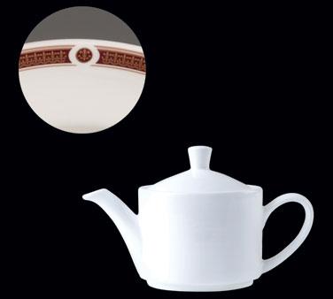 Teapot, 30 oz., Lid 1, Distinction, Vogue, Ambassador Burgundy (priced per case,